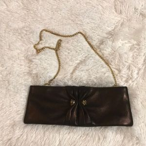Vintage brown and Gold Rodo Clutch